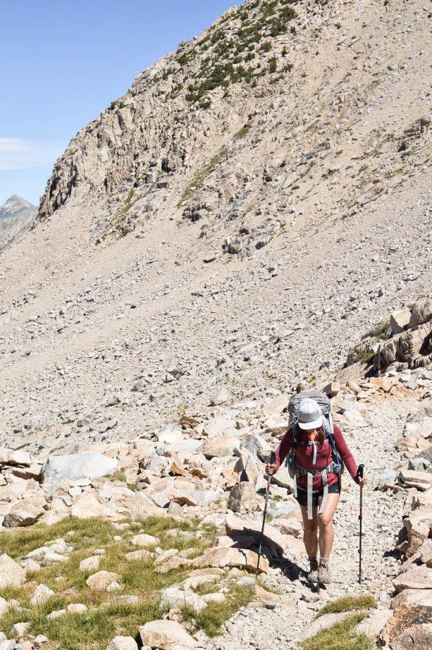 Climbing up Forester Pass