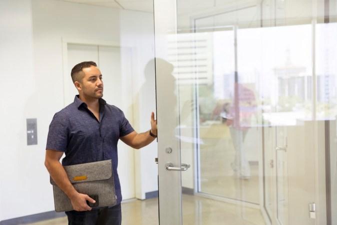 glass office door