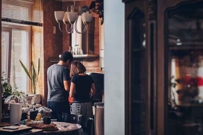 People working in the kitchen