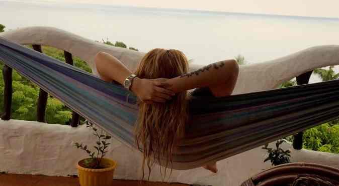 hammock on a balcony