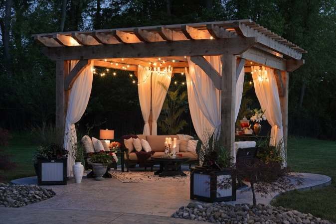 photo of outdoor sitting canopy