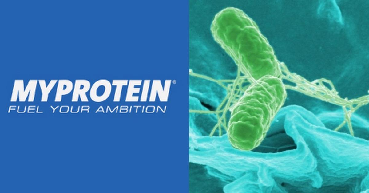 MyProtein,certains produits contiennent une bactérie
