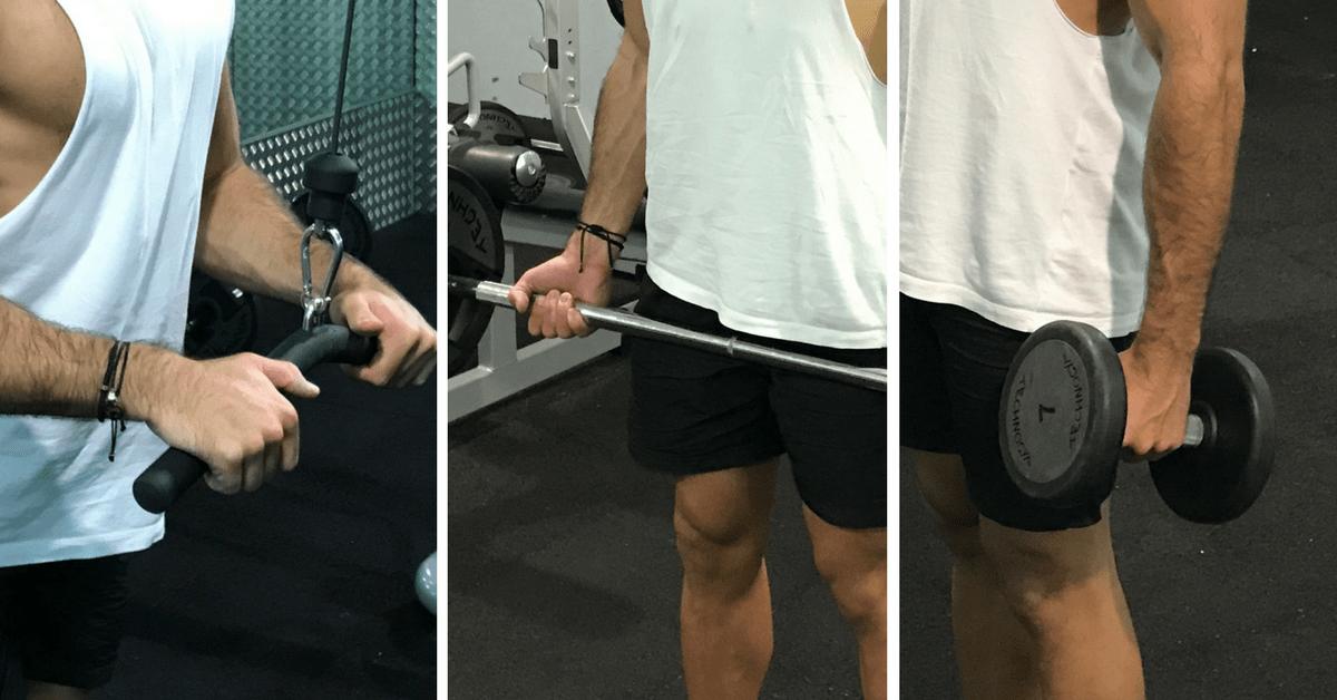 Les différentes prises en musculation