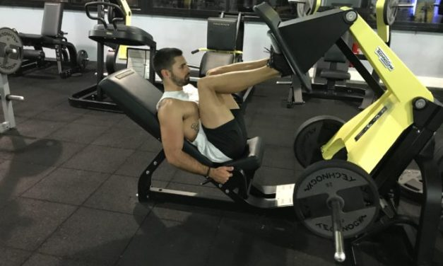 Exercice musculation: Presse à cuisses