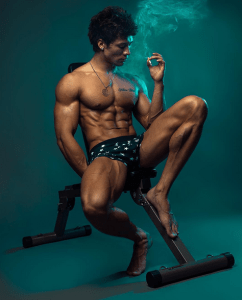 fitness-model-smoke-smoking-cigarette