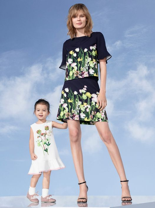 Victoria Beckham Floral Mother Daughter Outfits