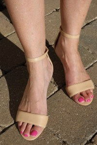 neutral sandal