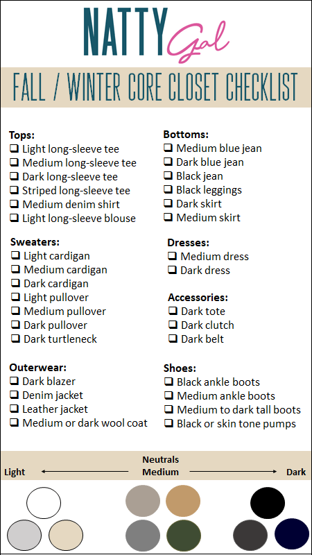 Fall/Winter Core Closet Checklist | Fall Wardrobe Basics | Fall Wardrobe Essentials | Winter Wardrobe Basics | Winter Wardrobe Essentials