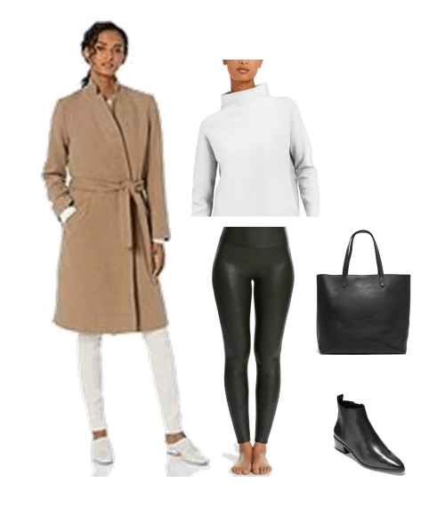 Four Ways to Style Faux Leather Leggings | Outfit Ideas for Leggings