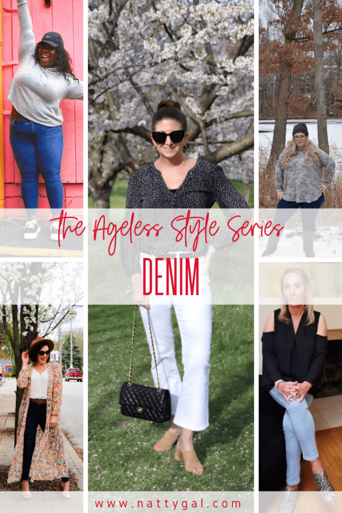Are skinnies dead?  Can you wear denim at 70?  Come check out this Ageless Style Denim post and find out what's trending at every age.