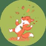 Fuchs im Herbst