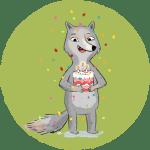 Wolf Geburtstagstorte