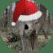 Baum mit Nikolausmütze