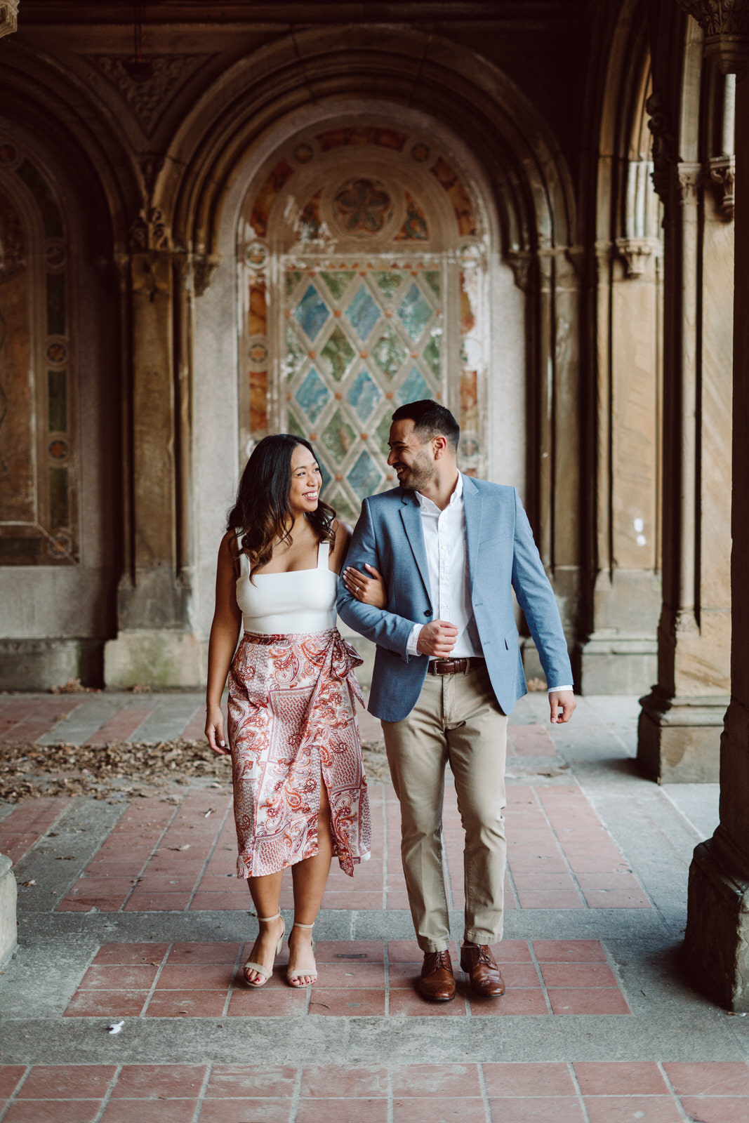Bethesda Terrace Engagement Photo spots, Bethesda Terrace engagement spots, Best Central Park engagement Shoot spots, Best spots for engagement photos in central park