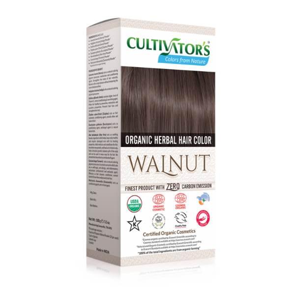 Organic herbal hair dye walnut Cultivator's x100g