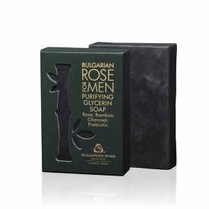 BULGARIAN ROSE FOR MEN CLEANSING GLYCERINE SOAP x80 GR