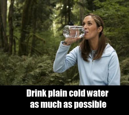 Drinking Plain Water