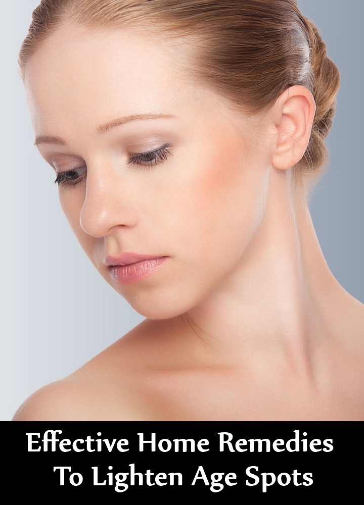 Effective Home Remedies To Lighten Age Spots