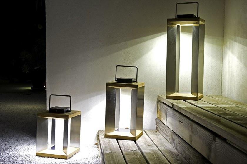TINKA Solar Teak Lantern