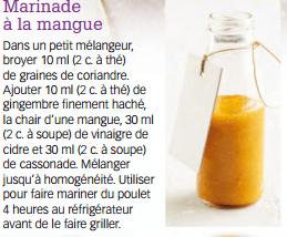 marinade à la mangue