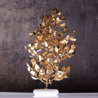 Διακοσμητικό αληθινό Δέντρο βελανιδιά επίχρυσο