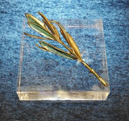 paperweight plexiglass 8_8_2 olive tree brass patina (2)