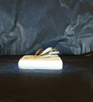paperweight white 8_8_2 olive tree brass patina