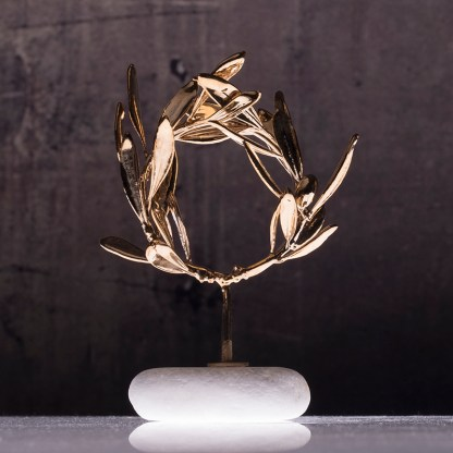 wreath olive gold plated Νο0