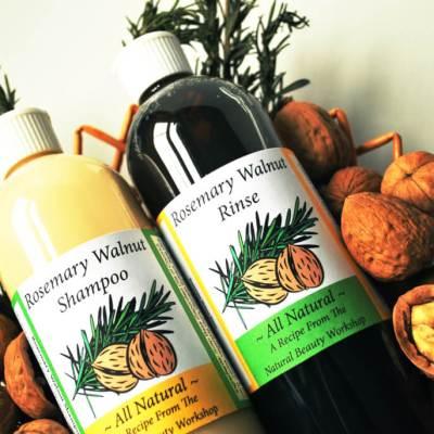 Rosemary Walnut Shampoo & Vinegar Rinse