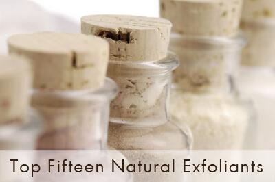 Top Fifteen Natural Exfoliants