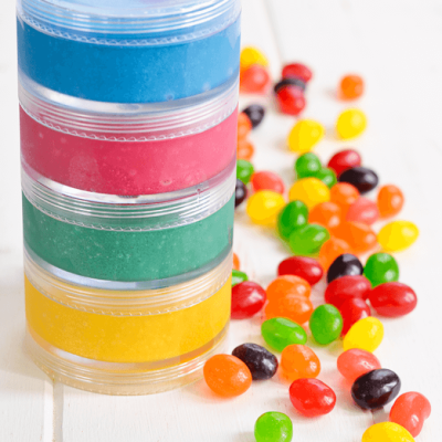 Rainbow Jelly Bean Lip Scrub