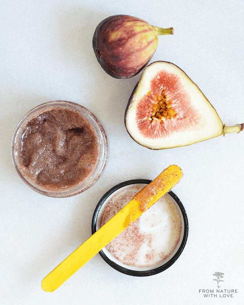 Dark Chocolate Fig Sugar Scrub - an exfoliating body polish using real cocoa and natural sugar