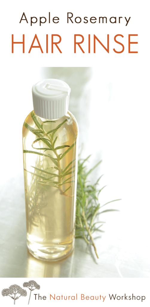 How to make Apple Rosemary Vinegar Hair Rinse - an herbal hair rinse made with just three all natural ingredients