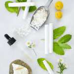 How to Make Bergamot & Spearmint Lip Balms - a refreshing lip care balm made with natural ingredients