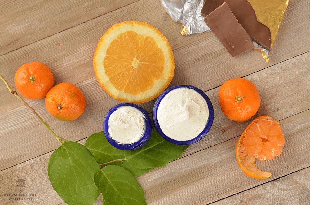 How to make Orange Cocoa Whipped Body Butter - a luscious moisturizing treat for dry skin