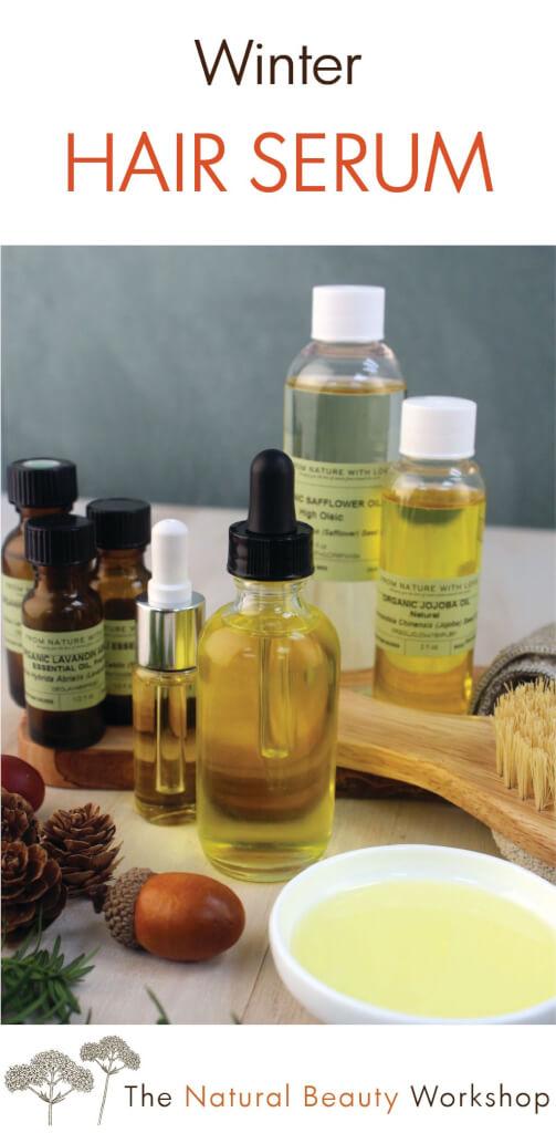 natural winter hair serum