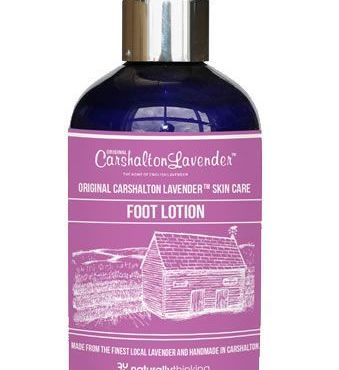 Hemp and Lavender Foot Lotion made from British Lavender
