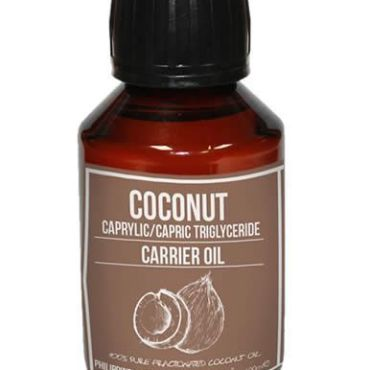 Coconut Oil (Fractionated), a lovely light skin oil which can soothe the skin without blocking pores
