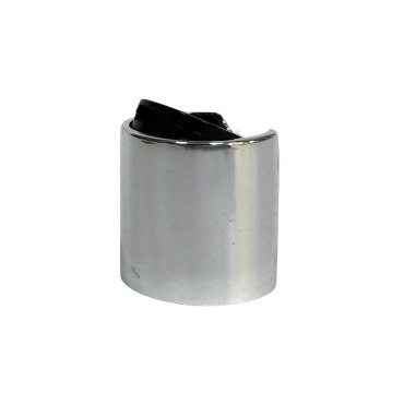24mm Silver Disc Top Cap for 24/410 neck bottles