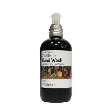 2% Oleate Hand Wash with Clove and Red Mandarin to soften sore hands