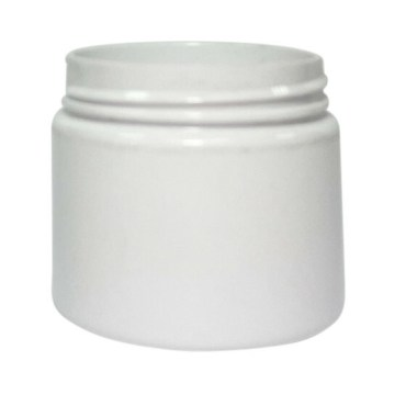 50ml white plastic jar suitable for cosmetic and skincare use