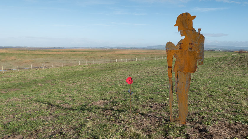 Tommy Atkins overlooking Pilling Marsh