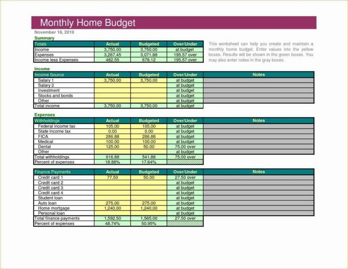 Dave Ramsey Budget Worksheet Excel