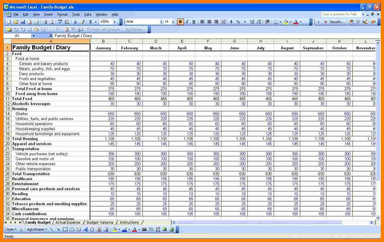 Zero Balance Budget Spreadsheet And A Budget Spreadsheet