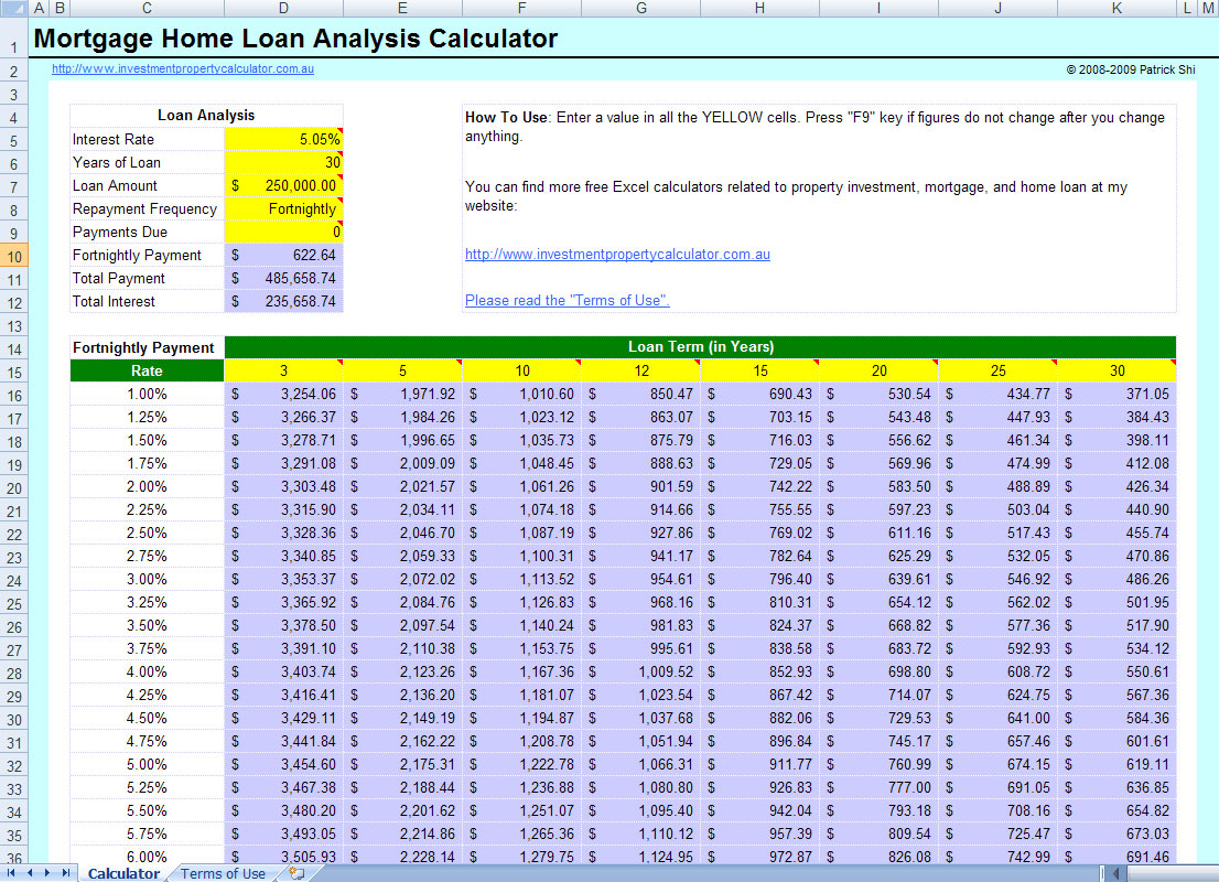 Heat Load Calculator Spreadsheet