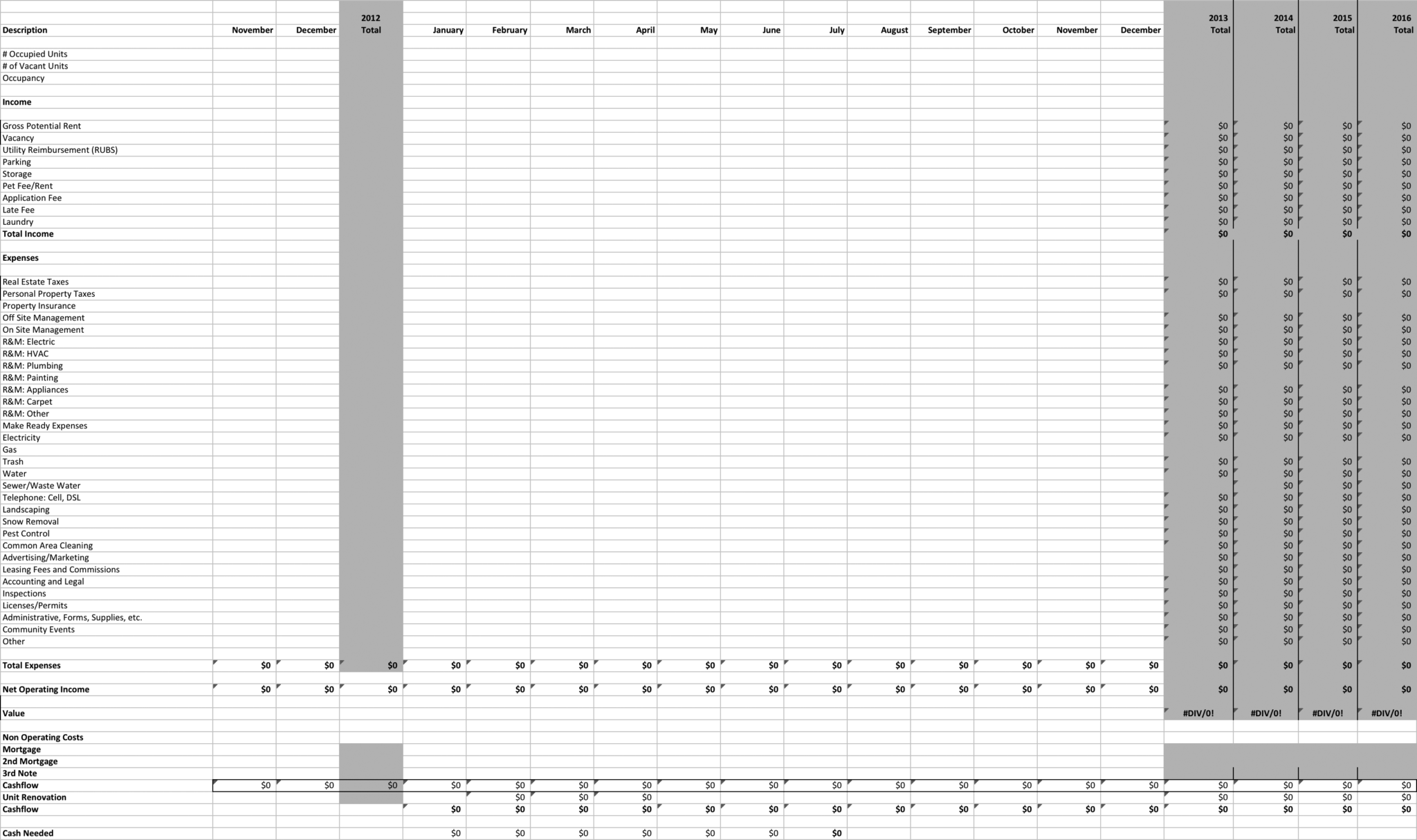 Rental Property Spreadsheets Free Download