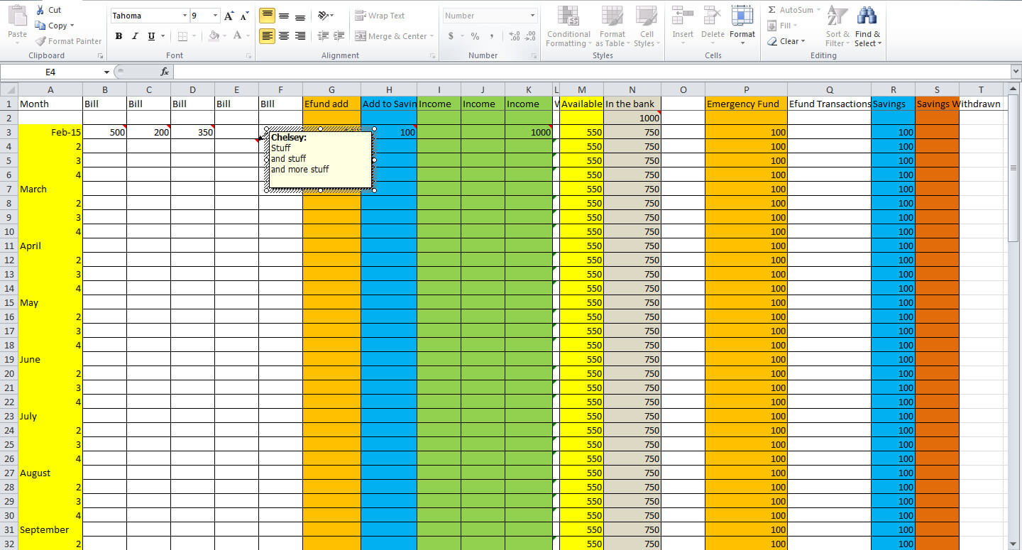 Create A Budget Spreadsheet