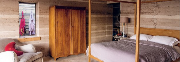 Rammed earth in Botswana
