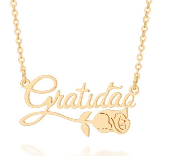 Gargantilha Rommanel 532021 Gratidão