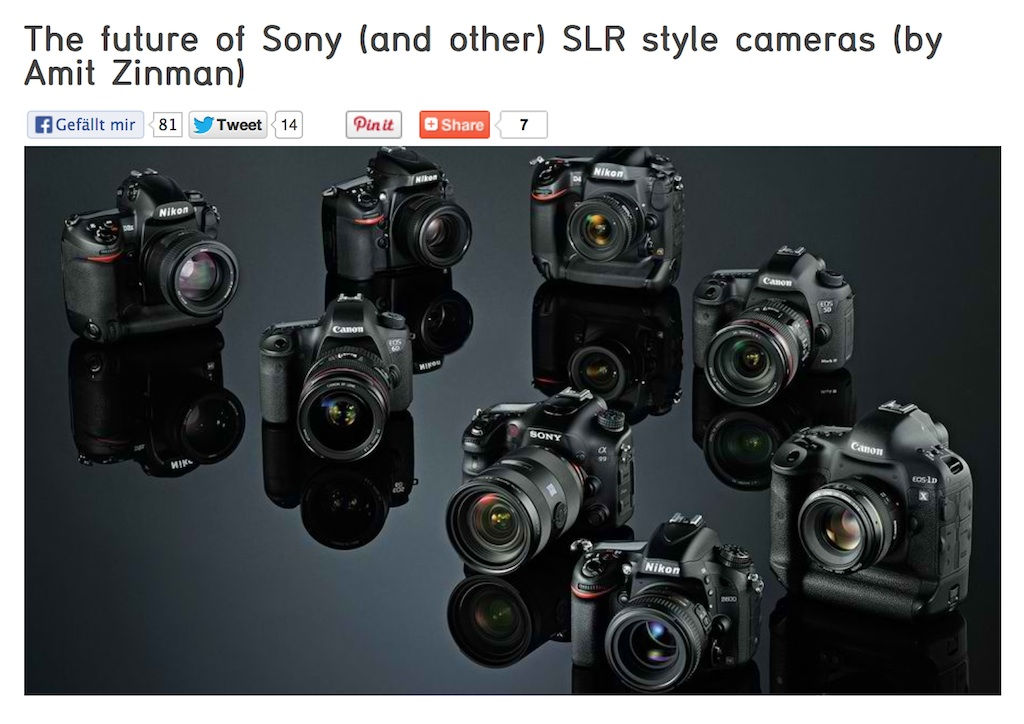 The world of digital photography seems to be changing fast but this article on Sony Rumors I think suggests correctly that it's not fast enough.